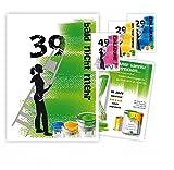 10 Einladungskarten für Erwachsene, Frauen, JEDES Alter möglich, lustig und originell - runder Geburtstag, DIN A5