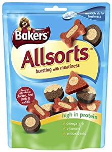 Bakers Allsorts 140 g (Pack of 6) from Nestlé Purina