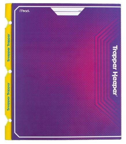 mead-trapper-keeper-snapper-trapper-2-pocket-portfolio-with-prongs-1188-x-12-x-12-inches-purple-7266