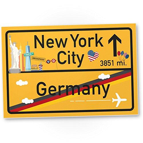 Gelb, Geschenk für sie - New York Amerika Reise / süße Deko für NYC Fans, Wanddeko, Türschild für Mädchen Wohnung, Geschenkidee Geburtstagsgeschenk Freundin, Party Deko (New York-party Dekorationen)