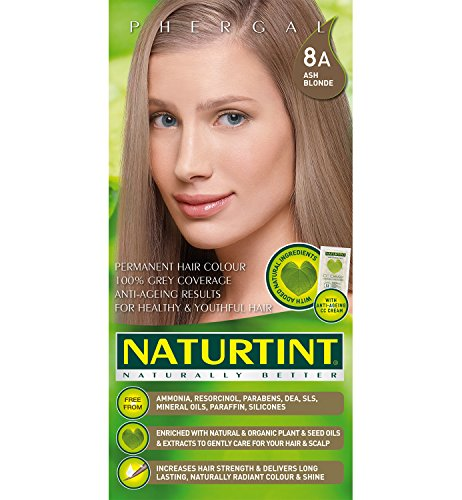Ash Blonde Haarfarbe (Naturtint Permanent 8A Ash Blonde 170ml)