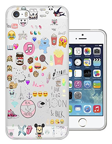 C0945 - Girly Collage Dream Catcher Coffee Smiley Emoji Best Friend Love you to the moon Design iphone 5C Fashion Trend Protecteur Coque Gel Rubber Silicone protection Case Coque