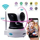 Juning IP Kamera Baby Monitor, WiFi oder LAN verbinden Haus Sicherheit Überwachungskamera, HD 1280*720 Pixel / (IOS/Android) Telefon-APP Fernsteuerbar / Eine vollständige Palette von Winkeldrehung / SD-Kartenspeicher / Konfigurieren Sie die Gegensprechfunktion