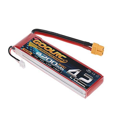 Preisvergleich Produktbild GoolRC 2S 7.4V 4200mAh 30C Li-Po Batterie mit XT60 Stecker für RC Auto Boots LKW
