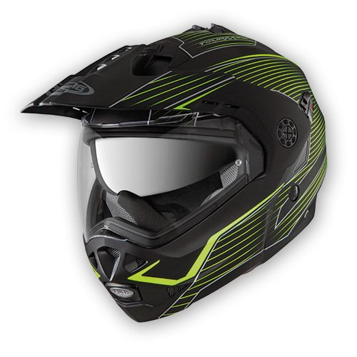 Caberg Tourmax Sonic Motorcycle Helmet S Matt Black Yellow