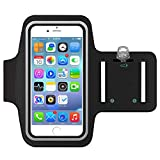 Sportarmband Hülle, BeGreat Armtasche Hülle Oberarmtasche Mit Schlüsselhalter, Kabelfach, Anti Rutsch Fitness Armband Handy-Lauf-Tasche Running-Case für iPhone 6 plus/ 7plus, Samsung Galaxy S7/ S6/ S5, 5.5