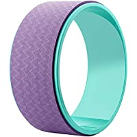 Rodillo de rueda de yoga diseñado para Dharma yoga, para estirar y mejorar los respaldos de entrenamiento de equilibrio, yoga postura y ejercicios de pilates, color green+purple, tamaño talla única