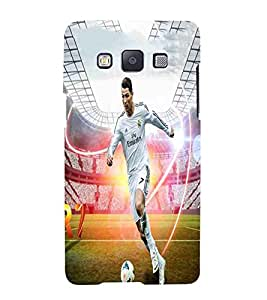Football, White, Football player in action, Lovely Pattern, Printed Designer Back Case Cover for Samsung Galaxy A3 (2015) :: Samsung Galaxy A3 Duos (2015) :: Samsung Galaxy A3 A300F A300Fu A300F/Ds A300G/Ds A300H/Ds A300M/Ds