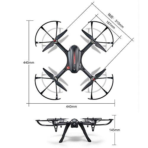 MJX B3 Profi Quadrocopter Drohne mit Aktionkamera-Halterung für Gopro Bürstlose Motoren 6A Elektrizitätsregulierung 2.4G Fernsteuer 4CH 6-Achsen Gyro 3D Rollen Funktion Drone für Profi Training Standard Version ohne Kamera und Gimbal - 7