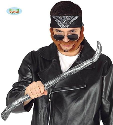 Guirca Silber Graue Brechstange Karneval Fasching Party Gangster Mechaniker Polizist Cop Polizei ca. 60 cm
