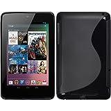 PhoneNatic Case für Google Nexus 7 Hülle Silikon schwarz S-Style + 2 Schutzfolien