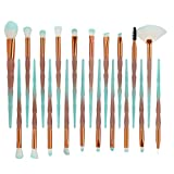 LuckyGirls 20PCS Make-up Pinsel Set Foundation Eyebrow Eyeliner Erröten Glitzern Welligkeit Kosmetik Pinsel Concealer Pinsel (One Size, A)