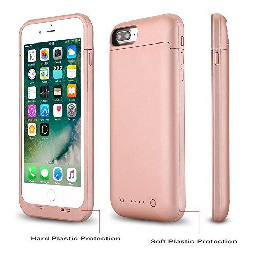 REALMAX® 4500mAh Ultra Slim 4,7 Zoll Power-Bank-Fall für iPhone 7 und iPhone 8 mit 4 LED-Power-Anzeige wiederaufladbare erweiterte Batterie Case externe Backup-Ladegerät kompakte Reise-Ladegerät Batterie Backup Case (Rose Gold) (Batterie-ladegerät-fall Für Iphone 4)