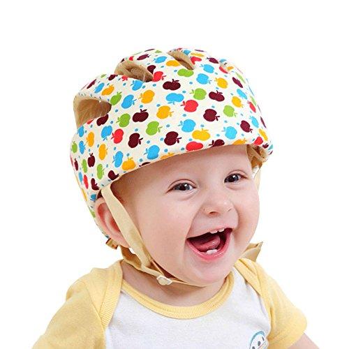 Cap Kids Hut Babyhelm Kopfschutzmütze gegen Stöße Safety Helmet aus weicher Baumwolle Verstellbar Stoßfest für Baby Kinder beim Lauflernen Rad fahren Wandern Krabbeln Blume ()