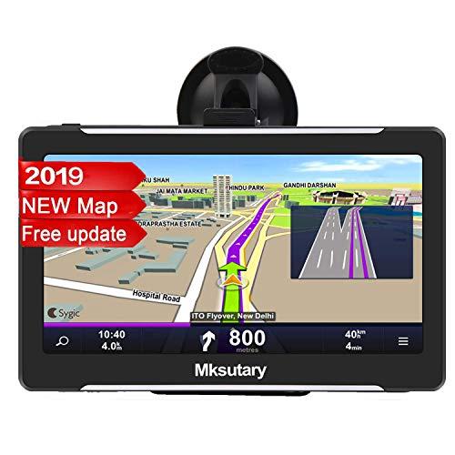 """Mksutary GPS de Coche, Navigation Pantalla 7"""" Navegador GPS para coche, Gratis de Mapa de Europa Toda la Vida"""