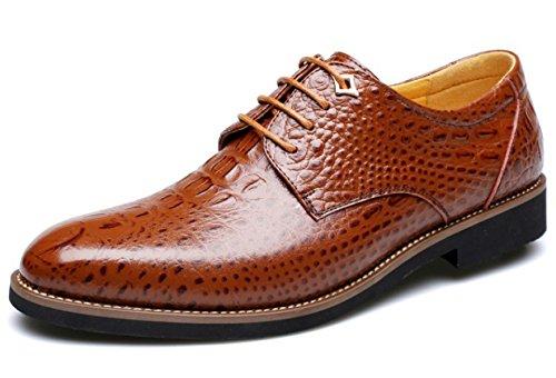 Brown Soirée Automne Oxford Hiver En Chaussures Derby Ronde Hommes cARq35jL4