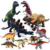 SYOSIN Figurine Set Dinosaure 10pcs Educatif Jouet Dinosaure Modèle Ensemble Cadeaux...