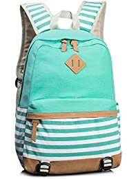 Leaper bags wallets and luggage buy leaper bags wallets and leaper cute navy style school backpack striped canvas bookbag casual travel rucksack water blue fandeluxe Choice Image