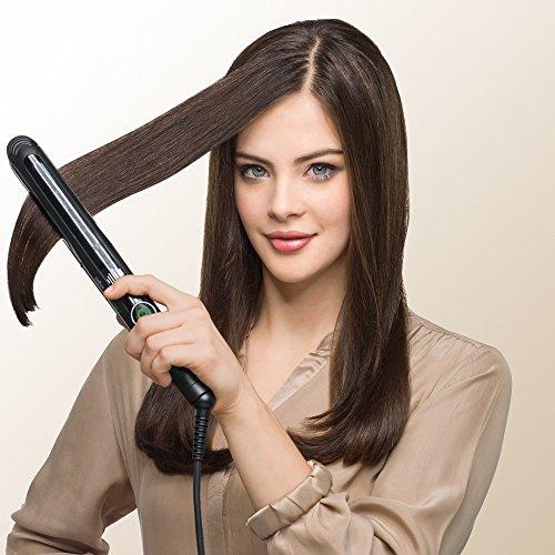 Braun Satin Hair 7 ST780 - Professioneller Haarglätter mit SensoCare-Technologie, Keramikplatte und Curl Definer, Schwarz