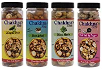 Chakhna Shot Peanuts - Mast Achari Flavour - Jalapeno Twist Flavour - Peri Peri Flavour - Minty Mania Flavour - Snacks for Pass time - Ready to Eat Spicy Snack - Peanuts 100g (Pack of 4)