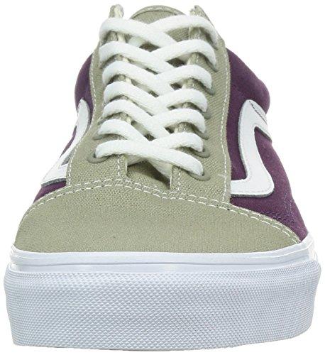 Vans U Old Skool, Baskets mode mixte adulte beige - violet - blanc