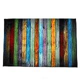 Igemy Farbe Holzbrett Druckmatte Esszimmer Teppich Teppich Shaggy Soft Area Teppich 40 X 120 cm (Multicolored)