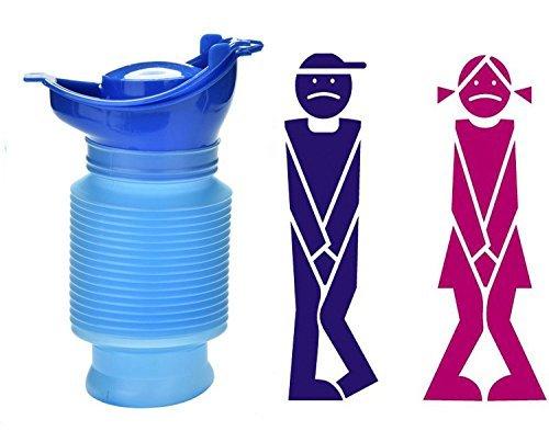 519AyimkIQL - Camping Portable Toilet Urine Bottle Bag Travel Potty Urine Funnel for Unisex Men Women Children Kids Car Traffic Jam