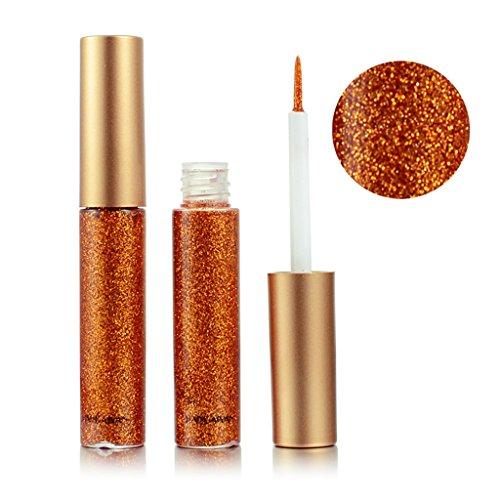 LQZ Lidschatten Flüssig Glitzer Eyeliner Wasserdicht Pigment Glitter - Orange