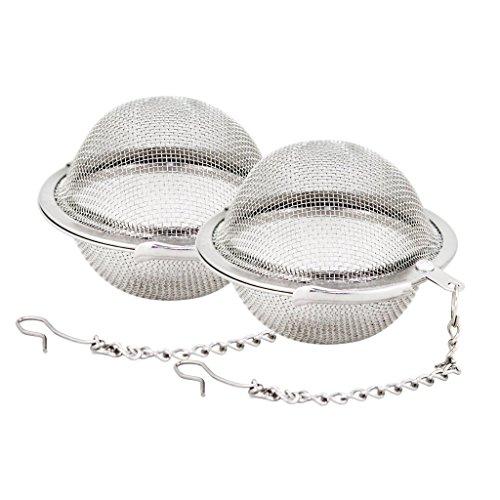 Vi.yo Tee Infuser Sieb Edelstahl Mesh Tee Ball Loose Leaf Tee Filter Intervall Diffusor für Tee Kräuter Gewürz, 2 Stück -
