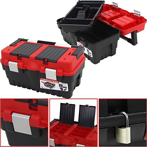 Werkzeugkoffer Formula S 46x25cm Werzeugkiste Kasten Sortimentskasten Werkzeugkasten Angelkoffer