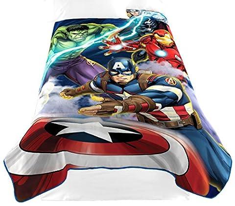 Marvel Avengers 'Blue Circle' Fleece Plush Blanket, 62