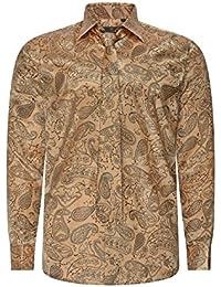Robelli Herren Paisley Hemden Hemd   Krawatte Kollektionen - Qualitäts  Baumwolle Oder Satin e7d4b9f69d
