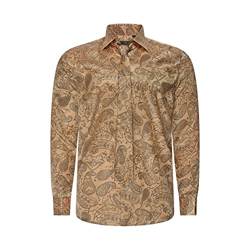Robelli Herren Freizeit-Hemd Style No. 11 - Black on Gold