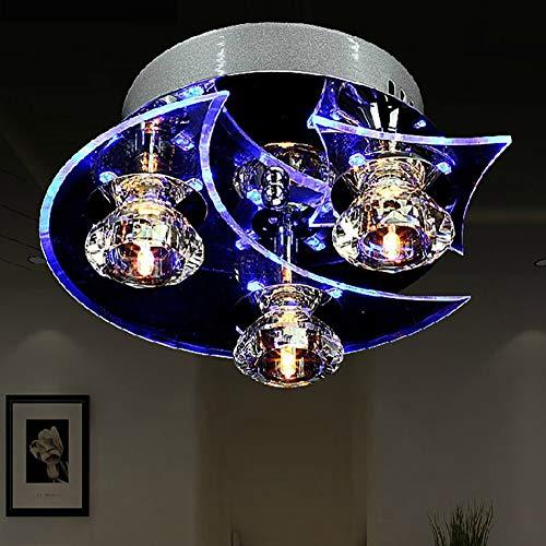 Kreative Persönlichkeit von eleganten Kristallkronleuchter geschmiedet Sterne Mond wandern, Schlafzimmer lounge Deckenleuchten Deckenleuchte Laterne Lampen (Farbe: 3 Lampe-220 (V) - - Deckenleuchte Geschmiedet