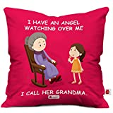 Best Grandmas - Indigifts Grandparents Special Angel Grandma Red Cushion Cover Review