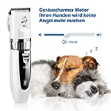 GHB Tierhaarschneider Schermaschine Tierhaarschneidemaschine Hunde Katzen Timmer 4 Aufsätze mit 2x Akku Wiederaufladbaren Haustier Rasierer - 7