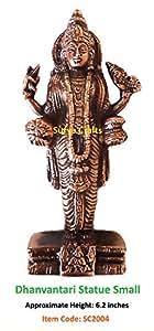 Surya Crafts - Dhanvantari Statue Small -6.25''