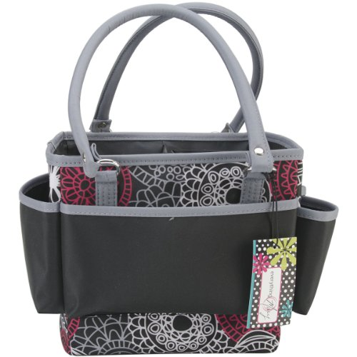 Mackinac Moon Open Top Square Tote W/Foldable Dividers-Red, White & Black - Open Top Tote