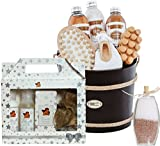 BRUBAKER Cosmetics Kokos-Vanille Träume - Das 14-teilige Tropical Verwöhn Badeset Geschenkset