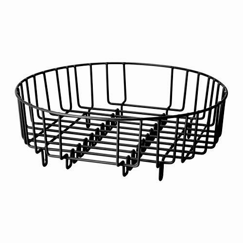 Heavy Duty Stainless Steel 37cm Dia Round 2 in 1 Dish Drainer / Rinsing Basket (Fit all most all Round / Rectangular Domestic & Commercial Sinks)