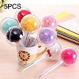 5 PCS Kawaii Furry Ball Pen Stylo à bille roulante marqueur