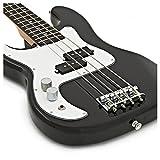 Guitare Basse 3/4 LA pour Gauchers par Gear4music Noir