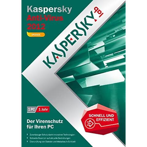 Kaspersky Lab Anti-Virus 2012, 1u, UPG, DVD, Box, DEU - Seguridad y antivirus (1u, UPG, DVD, Box, DEU, Actualizasr, 1 usuario(s), 480 MB, 512 MB, 800 MHz, Windows XP Home Edition SP2+ Windows XP Professional SP2+)