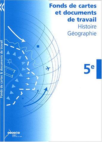 Histoire Géographie 5e : Fonds de cartes, documents de travail
