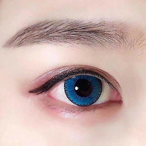 Wekold Farbige Kontaktlinsen Jahreslinsen 1 Stück Niedlich Devil Top Qualität zu Fasching Karneval Fastnacht Halloween Cosplay Unisex