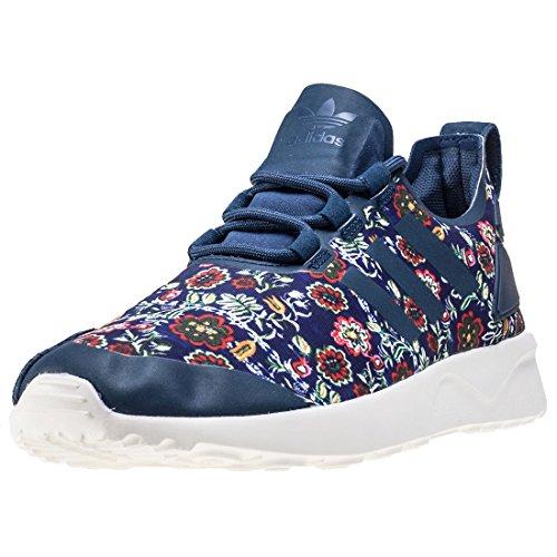 adidas Zx Flux Adv Verve W, Chaussures de Running Compétition Femme Blue Multicolour
