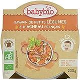 Babybio Assiette Navarin de Petits Légumes/d'Agneau Français 12+ Mois 230 g - Lot de 5