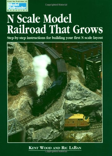 N Scale Model Railroad That Grows: Step-By-Step Instructions for Building Your First N Scale Layout (Model Railroader) por Kent Wood