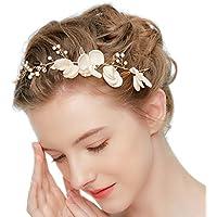 Perlas de diamantes de imitación de la joyería de la boda de la venda nupcial de la cabeza Accesorios Vintage perlas de la vid de la vid Cintas de la boda nupcial de la venda del pelo HWMD222