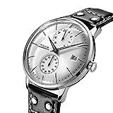 Relojes para Hombre FEICE Relojes Mecánicos Automáticos de Pulsera Reloj Unico Espejo Curvo con Esfera Pequeña Multifunciones Resistente al Agua FM212